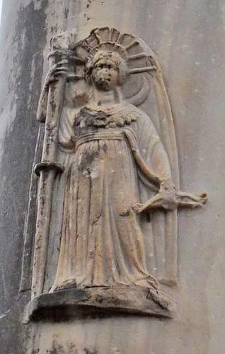 Artemis Pergaia relief on column