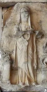 priestess from relief on nymphaeum of Aurelia Paulina